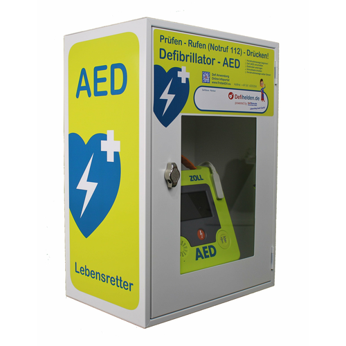 Defi/AED Wandschrank - Metall - WallCase 22 mit AED...