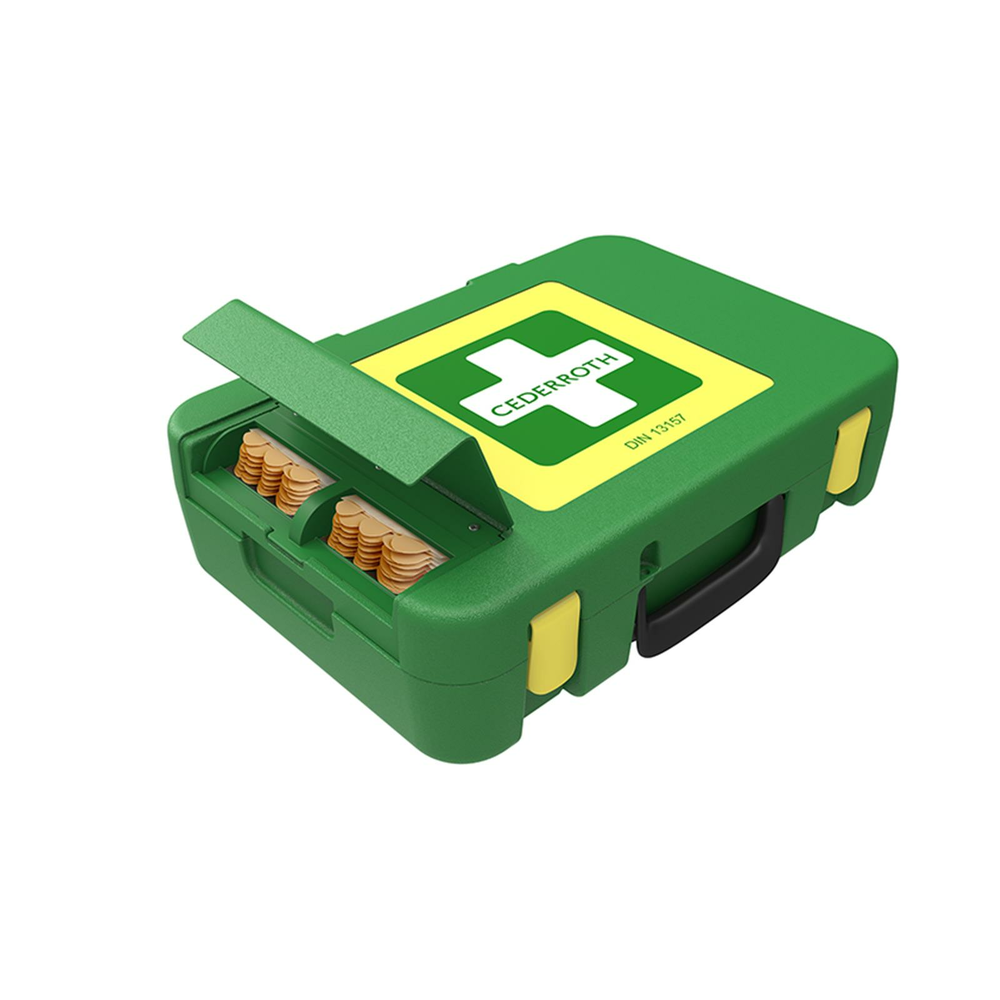 Cederroth First Aid Kit (Koffer) inkl. DIN 13 157 + Pflasterspender